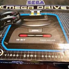 Videojuegos y Consolas: CONSOLA SEGA MEGA DRIVE MEGADRIVE II CON 2 MANDO CARTUCHO CON TRES JUEGOS Y CAJA. Lote 101313899