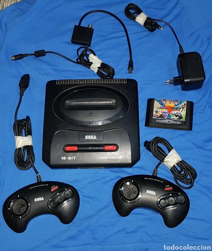 SEGA MEGA DRIVE II CONSOLA VINTAGE SEGA MEGADRIVE 2 MANDOS CABLES Y UN JUEGO (Juguetes - Videojuegos y Consolas - Sega - MegaDrive)