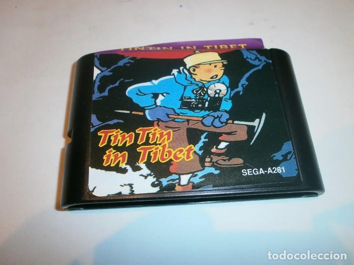 TINTIN IN TIBET MEGADRIVE (CLONICO) PAL SOLO CARTUCHO (Juguetes - Videojuegos y Consolas - Sega - MegaDrive)