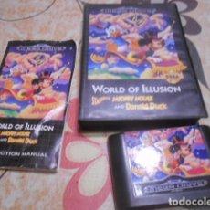 Videojuegos y Consolas: JUEGO MEGA DRIVE - CON CAJA CON INTRUCCIONES - WORLD OF ILLUSION. Lote 103787903