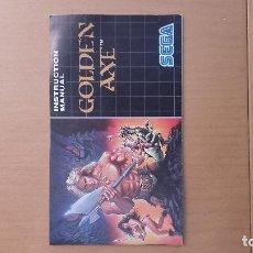Videojuegos y Consolas: MANUAL GOLDEN AXE SEGA. Lote 103843943