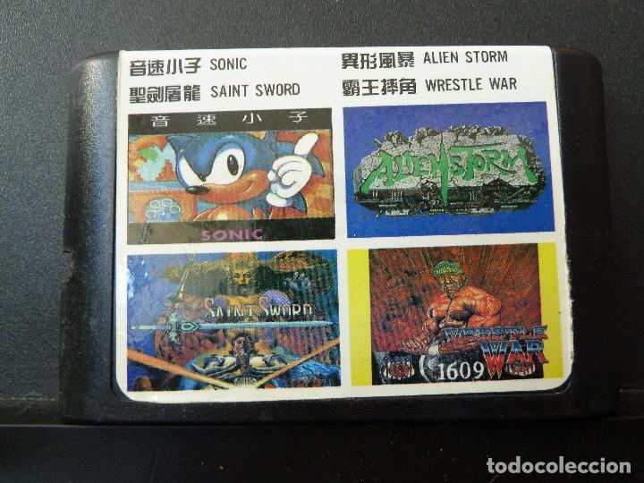 JUEGO - SEGA - MEGADRIVE - 4 IN 1 - 4 EN 1 (Juguetes - Videojuegos y Consolas - Sega - MegaDrive)