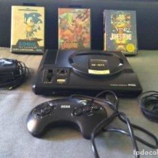 Videojuegos y Consolas: VIDEOCONSOLA SEGA MEGADRIVE 16BIT COMPLETA + 3 JUEGOS . Lote 105966691