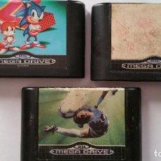 Videojuegos y Consolas: LOTE DE 3 JUEGOS DE LA MEGA DRIVE. Lote 105988551