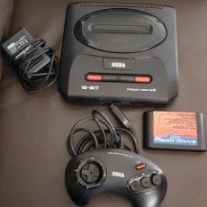 Videojuegos y Consolas: CONSOLA SEGA MEGA DRIVE II CON MANDO, CABLE Y CARTUCHO DE 6 JUEGO. Lote 107314279
