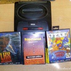 Videojuegos y Consolas: MEGA DRIVE 16 BITS + 3 JUEGOS CON MANUALES Y CAJA ( GOLDEN AXE Y OTROS ). Lote 107440943