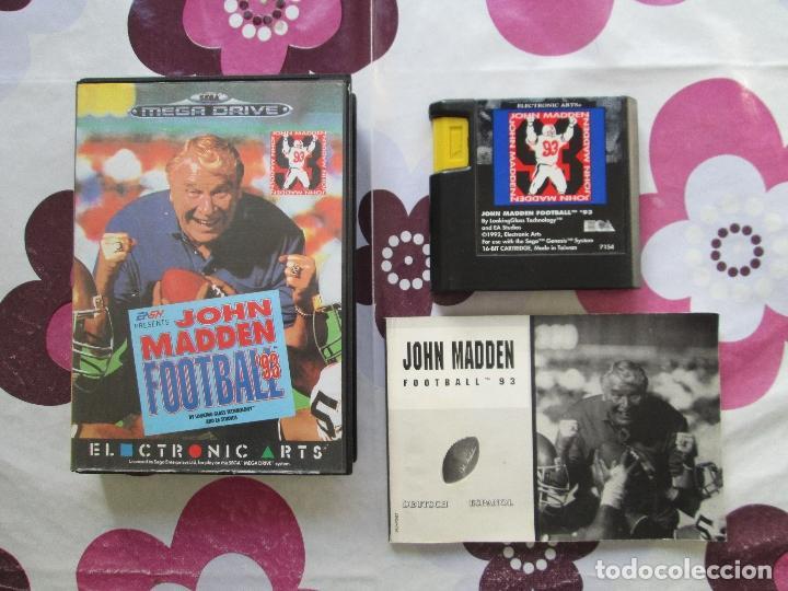 Videojuegos y Consolas: JOHN MADDEN FOOTBALL´93 MEGADRIVE - Foto 2 - 107892879