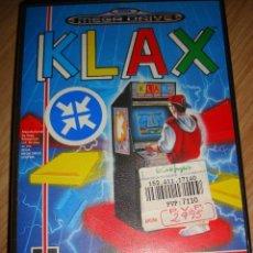 Videojuegos y Consolas: JUEGO MEGADRIVE KLAX, CON INSTRUCCIONES . Lote 112480695