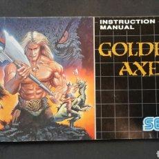 Videojuegos y Consolas: MEGA DRIVE INSTRUCCIONES GOLDEN AXE. Lote 113770356