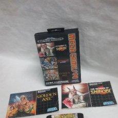Videojuegos y Consolas: JUEGO CONSOLA MEGA GAMES 2 DE SEGA MEGA DRIVE CON INSTRUCCIONES . Lote 113970087