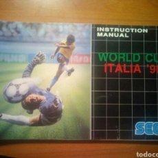 Videojuegos y Consolas: MANUAL WORLD CUP ITALIA SEGA MEGADRIVE. Lote 114059051