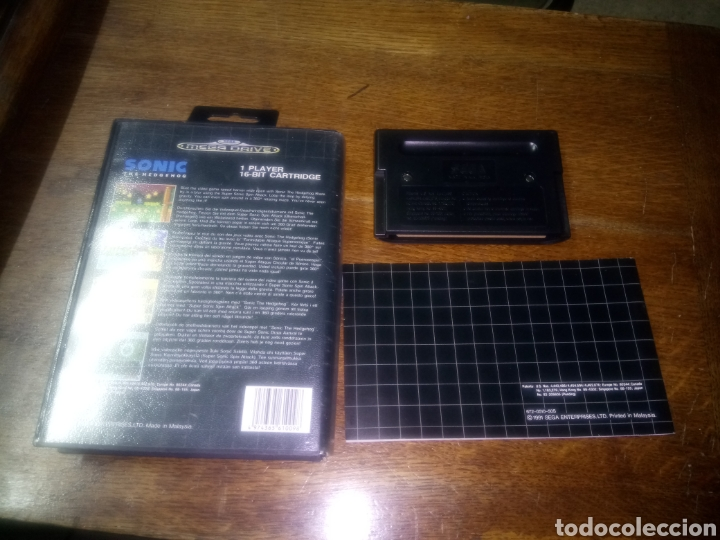 Videojuegos y Consolas: Juego de mega drive, sonic completo, caja y con libro de instrucciones - Foto 2 - 115325735