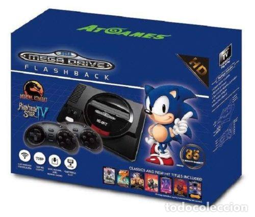 CONSOLA MEGADRIVE FLASHBACK HD 85 JUEGOS Y RANURA CARTUCHOS MEGADRIVE SEGA NUEVA (Juguetes - Videojuegos y Consolas - Sega - MegaDrive)