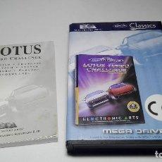Videojuegos y Consolas: CAJA + INSTRUCCIONES LOTUS TURBO CHALLENGE ( SEGA MEGA DRIVE - PAL- EURO) . Lote 119132795