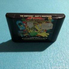 Videojuegos y Consolas: JUEGO THE SIMPSONS BART´S NIGHTMARE CARTUCHO SEGA MEGA DRIVE. Lote 119152203