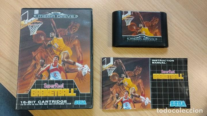 JUEGO CONSOLA MEGADRIVE MEGA DRIVE SEGA SUPER REAL BASKETBALL SUPERREAL BALONCESTO (Juguetes - Videojuegos y Consolas - Sega - MegaDrive)