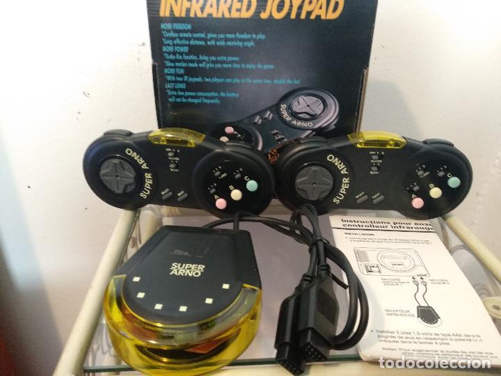 SUPER ARNO 2 MANDOS INALAMBRICO NUEVO A ESTRENAR INFRARED JOYPAD NEW IRJ-200S SEGA MEGA DRIVE (Juguetes - Videojuegos y Consolas - Sega - MegaDrive)