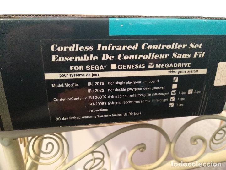 Videojuegos y Consolas: super arno 2 mandos inalambrico nuevo a estrenar infrared joypad new irj-200s sega mega drive - Foto 5 - 120735847