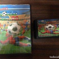 Videojuegos y Consolas: ANTIGUO JUEGO CARTUCHO COMPATIBLE SEGA MEGADRIVE TECMO WORLD CUP 92. Lote 121714879