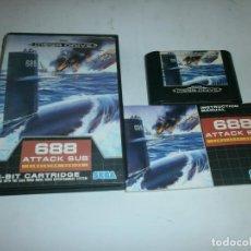 Videojuegos y Consolas: 688 ATTACK SUB SEGA MEGADRIVE PAL COMPLETO. Lote 128971851