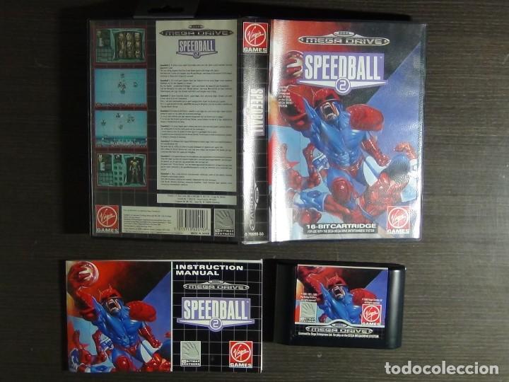 Videojuegos y Consolas: JUEGO SPEEDBALL 2 DE THE BITMAP BROTHERS PARA LA SEGA MEGA DRIVE COMPLETO - Foto 3 - 127624059