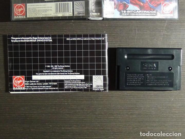 Videojuegos y Consolas: JUEGO SPEEDBALL 2 DE THE BITMAP BROTHERS PARA LA SEGA MEGA DRIVE COMPLETO - Foto 5 - 127624059