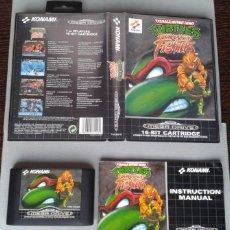 Videojuegos y Consolas: SEGA MEGA DRIVE TURTLES TOURNAMENT FIGHTERS COMPLETO CAJA Y MANUAL BOXED CIB PAL R7775. Lote 128256983