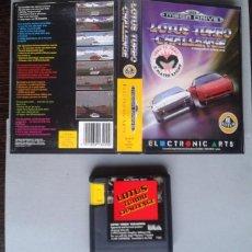 Videojuegos y Consolas: JUEGO SEGA MEGA DRIVE LOTUS TURBO CHALLENGE INCLUYE CAJA BOXED PAL R7776. Lote 128257035