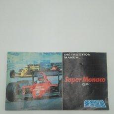 Videojuegos y Consolas: MANUAL SUPER MONACO GP SEGA. Lote 128287823