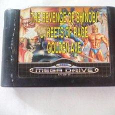 Jeux Vidéo et Consoles: MEGA GAMES 2. GOLDEN AXE, STREETS OF RAGE. CARTUCHO ROTO JUEGO PARA LA CONSOLA SEGA MEGA DRIVE.. Lote 130099147