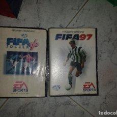 Videojuegos y Consolas: LOTE FIFA 96 FIFA 97 SEGA MEGADRIVE COMPLETOS. Lote 130807688
