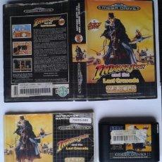 Jeux Vidéo et Consoles: SEGA MEGA DRIVE INDIANA JONES LAST CRUSADE COMPLETO CON CAJA MANUAL BOXED CIB R7897. Lote 132986998