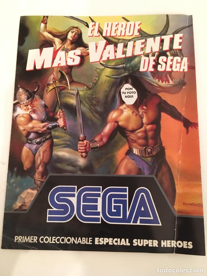 FOLLETO SEGA PRIMER COLECCIONABLE ESPECIAL SUPER HEROES (Juguetes - Videojuegos y Consolas - Sega - MegaDrive)