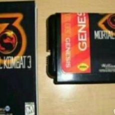 Videojuegos y Consolas: MORTAL KOMBAT 3 SEGA MEGA DRIVE MEGADRIVE GENESIS REPRO. Lote 133782187