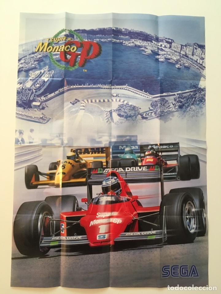 PÓSTER CATÁLOGO DE JUEGOS SEGA MEGADRIVE. POSTER SUPER MÓNACO GP. AÑOS 90 (Juguetes - Videojuegos y Consolas - Sega - MegaDrive)