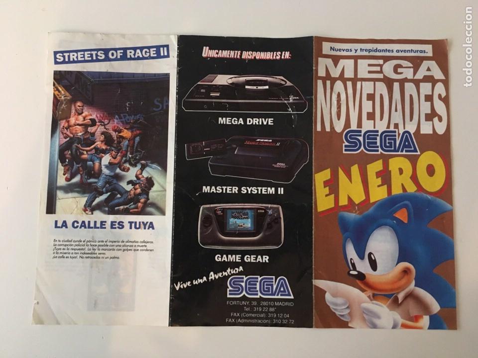 FOLLETO TRÍPTICO MEGA NOVEDADES SEGA ENERO (Juguetes - Videojuegos y Consolas - Sega - MegaDrive)