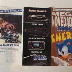 Videojuegos y Consolas: FOLLETO TRÍPTICO MEGA NOVEDADES SEGA ENERO. Lote 136049582