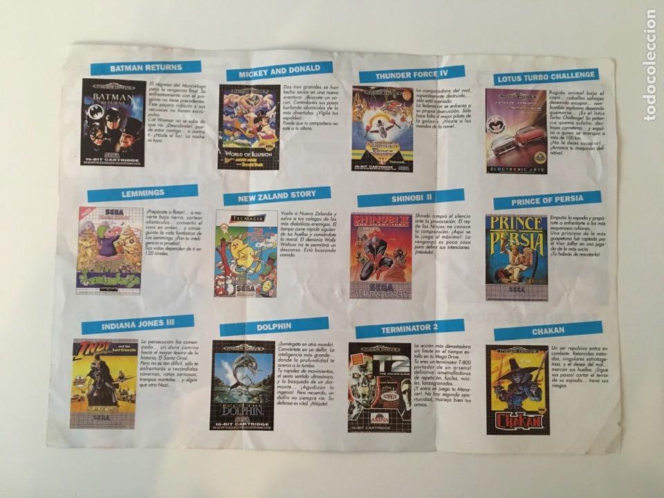 Videojuegos y Consolas: Folleto tríptico Mega Novedades Sega Enero - Foto 2 - 136049582