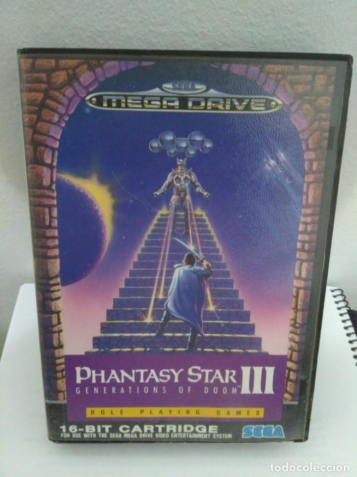 PHANTASY STAR III, DE MEGADRIVE. RARA EDICIÓN ASIÁTICA EN INGLÉS. (Juguetes - Videojuegos y Consolas - Sega - MegaDrive)