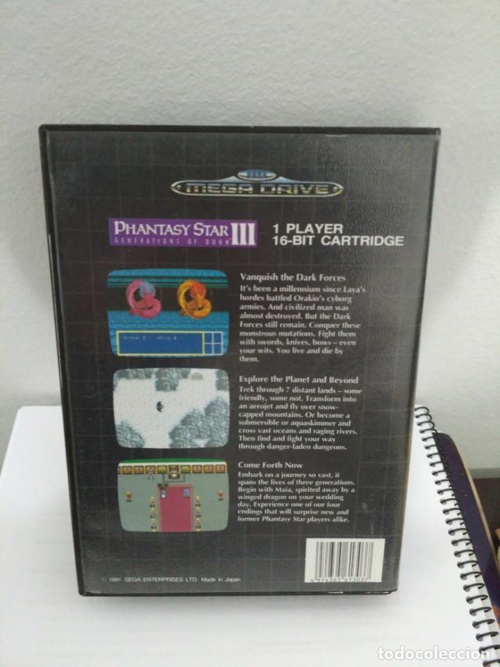 Videojuegos y Consolas: Phantasy Star III, de Megadrive. Rara edición asiática en inglés. - Foto 2 - 138569186