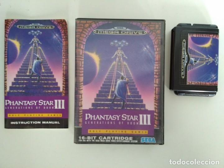 Videojuegos y Consolas: Phantasy Star III, de Megadrive. Rara edición asiática en inglés. - Foto 4 - 138569186