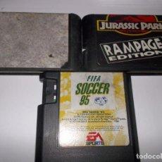 Videojuegos y Consolas: SEGA MEGADRIVE GENESIS LOTE 3 JUEGOS ULTIMATE MORTAL KOMBAT 3, JURASSIC PARK RAMPAGE Y FIFA 95. Lote 139768722