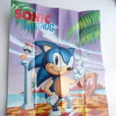 Jeux Vidéo et Consoles: SONIC HEDGEHOG - POSTER CALALOGO -SEGA MEGADRIVE. Lote 144077102