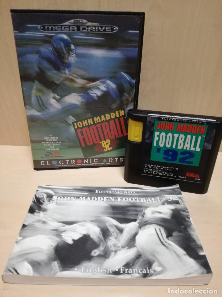 JUEGO SEGA MEGA DRIVE / MEGADRIVE - JOHN MADDEN FOOTBALL 92 (Juguetes - Videojuegos y Consolas - Sega - MegaDrive)