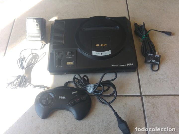 SEGA MEGADRIVE CON MANDO Y CABLES , ORIGINAL 100% Y FUNCIONANDO (Juguetes - Videojuegos y Consolas - Sega - MegaDrive)