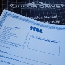 Videojuegos y Consolas: MANUAL SEGA MEGA DRIVE. Lote 155809826