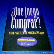 Videojuegos y Consolas: TODO SEGA SELECCION - ¿QUE JUEGO COMPRAR? - GUIA NOVEDADES 1993 - BOX31. Lote 156610494