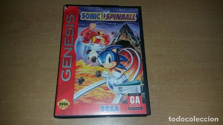 SONIC SPINBALL SEGA GENESIS (Juguetes - Videojuegos y Consolas - Sega - MegaDrive)