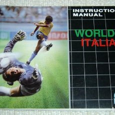 Videojuegos y Consolas: MANUAL DE INSTRUCCIONES VIDEOJUEGO WORLD CUP ITALIA 90 SEGA MEDA DRIVE MEGADRIVE. Lote 158375122