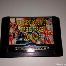 Videojuegos y Consolas: THE REVENGE OF SHINOBI. STREETS OF RAGE GOLDEN AXE MEGA DRIVE. Lote 158760696
